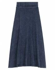 Long Denim Rib Skirt Light 7