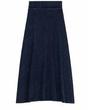 Long Denim Rib Skirt Dark 7