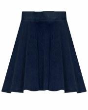 Denim Rib Skirt Dark 4