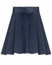 Denim Rib Skirt Light 4