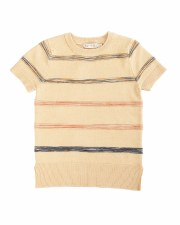 S/S Sweater W/ Colored Lines S