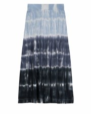 Long Ribbed Ombre Skirt Blue 7