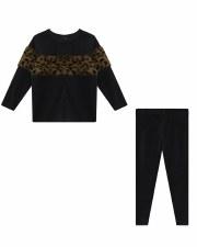 Velour PJ W/ Fur Black 3