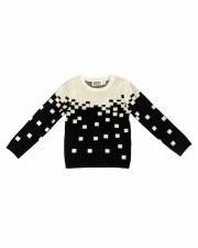 Pixels Knit Sweater Black/Crea