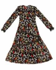 Floral Teen Dress Black L(20)