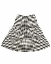 Checkered Teen Skirt Black/Whi