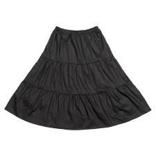 Tiered Teen Skirt Black L(20)