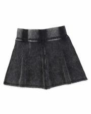 Denim Wash Skirt Black 6