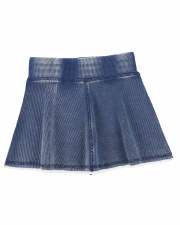 Denim Wash Skirt Blue 6