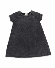 Denim Wash S/S Dress Black 2T