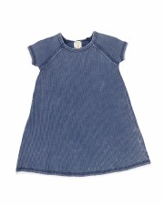 Denim Wash S/S Dress Blue 2T