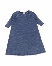 Denim Wash 3/4 Sleeve Dress Bl