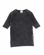 3/4 Sleeve Denim Wash Tee Blac