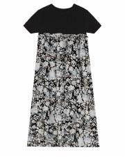 Floral Print Robe Black/White