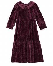 Tiered Button Down Velour Robe