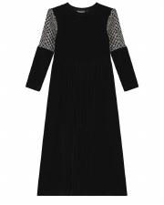 Vellour Robe W/ Houndstooth Sl