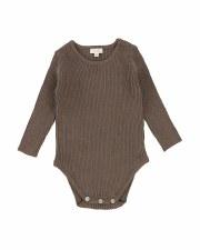 Knit Crewneck Onesie Cocoa 9M