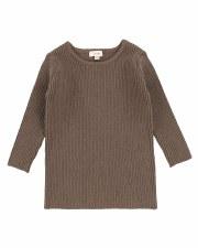 Knit Crewneck Sweater Cocoa 2T