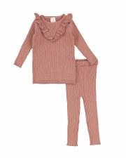 Knit Ruffle Set