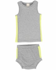 Linear Bloomer Set Grey/Neon 2