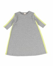 Linear 3/4 Dress Grey/Neon 6