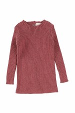 Analogie Rib Knit Sweater Mauv