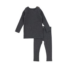 Ribbed Set Dark Heather 5T