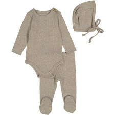 Ribbed Set Oatmeal 12M