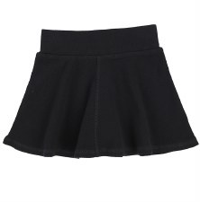 Ribbed Skirt- Lil Legs Black 7