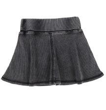 Ribbed Skirt- Lil Legs Black W