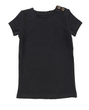 Lil Legs S/S Ribbed Tee Black
