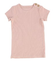 Lil Legs S/S Ribbed Tee Blush