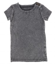 Lil Legs S/S Ribbed Tee Grey W