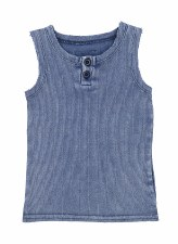 Ribbed Lil Legs Tank Blue Wash
