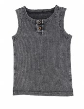Ribbed Lil Legs Tank Grey Wash