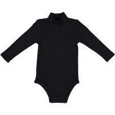 Rib Turtleneck Onesie Black 18