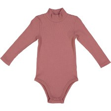 Rib Turtleneck Onesie Dusty Pi