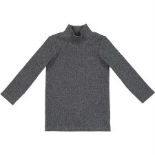 Rib Turtleneck Dark Heather 12