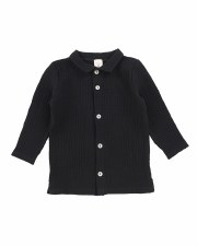 Muslin Buton Down Shirt Black