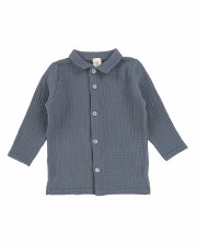 Muslin Buton Down Shirt Blue/G