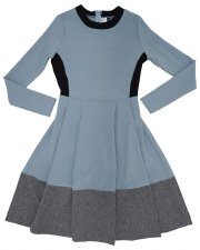 Teen Dress W/ Bottom Panel Blu
