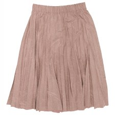 Pleather Pleated Skirt Blush X