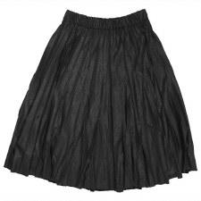 Pleather Pleated Skirt Black X