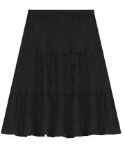 Teen Tiered Crinkle Skirt Blac