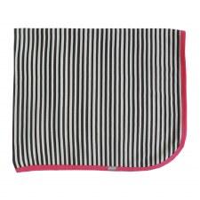 Striped Contrast Blanket Pink