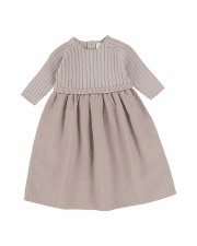 3/4 Sleeve Knit Dress Taupe 6X
