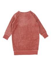 Analogie Velour Dress Rose 6X