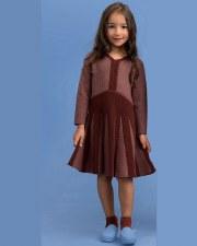 Ribbed Herringbone Dress Mauve