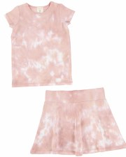S/S Watercolor Skirt Set Blush