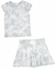 S/S Watercolor Skirt Set Seafo